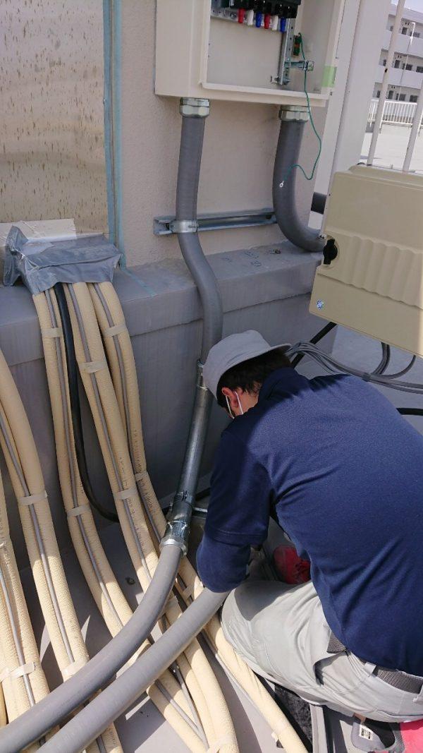 屋上空調電源工事
